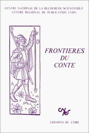 Cover of: Frontières du conte |
