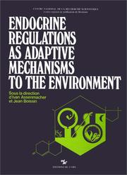 Cover of: Endocrine regulations as adaptive mechanisms to the environment = |