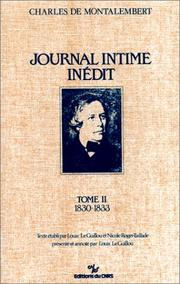 Journal intime inédit by Charles Forbes René de Tryon, Comte de Montalembert