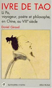 Cover of: Ivre de Tao