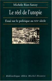 Cover of: Le réel de l'utopie