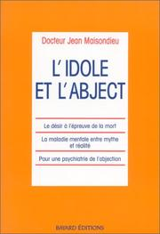 Cover of: L' idole et l'abject