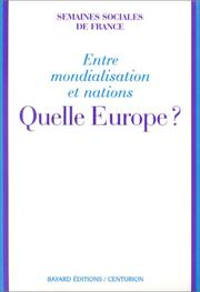 Cover of: Quelle Europe?