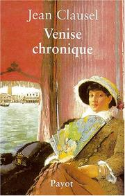 Cover of: Venise chronique