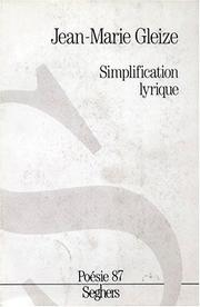 Cover of: Simplification lyrique