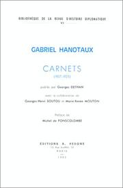 Cover of: Carnets (1907-1925)