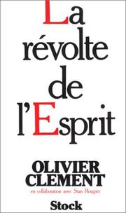Cover of: La révolte de l'Esprit