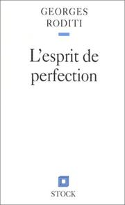 Cover of: L' esprit de perfection