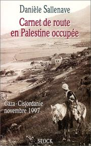 Cover of: Carnet de route en Palestine occupée