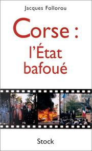 Cover of: Corse : l'Etat bafoué