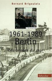 Cover of: 1961-1989, Berlin