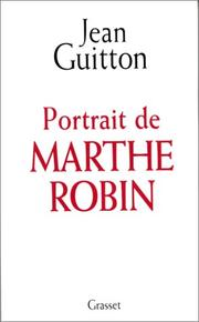 Cover of: Portrait de Marthe Robin