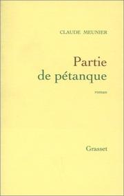 Cover of: Partie de pétanque
