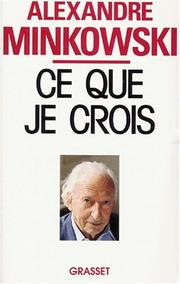 Cover of: Ce que je crois