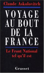 Cover of: Voyage au bout de la France
