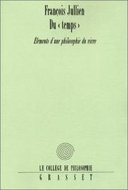 "Cover of: Du ""temps"""