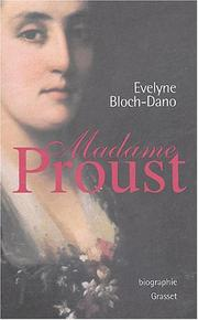 Cover of: Madame Proust