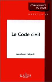 Cover of: Le Code civil