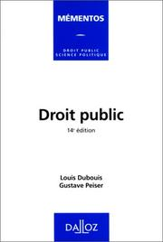 Droit public by Louis Dubouis