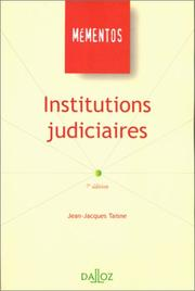 Cover of: Institutions judiciaires