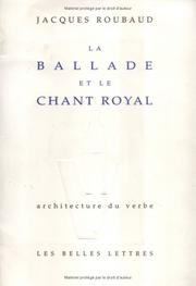 Cover of: La ballade et le chant royal
