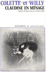 Cover of: Claudine en ménage