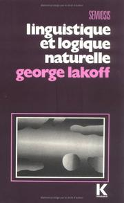 Cover of: Linguistics and natural logic