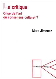 Cover of: La critique