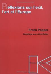 Cover of: Réflexions sur l'exil, l'art et l'Europe