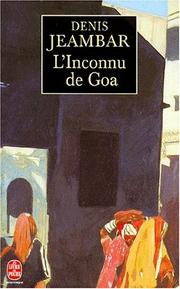 Cover of: L'inconnu de Goa