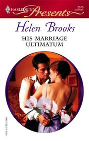 Cover of: His Marriage Ultimatum | Helen Brooks