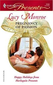 Cover of: PREGNANCY OF PASSION | Lucy Monroe