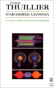 Cover of: D' Archimède à Einstein