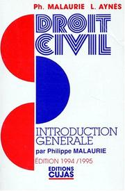 Cover of: Cours de droit civil