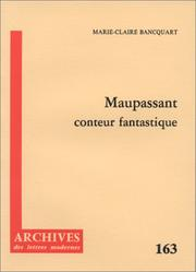 Cover of: Maupassant, conteur fantastique