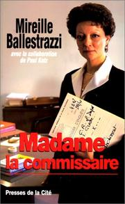 Cover of: Madame la commissaire