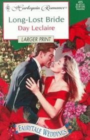 Cover of: Long Lost Bride (Fairytale Weddings) - Larger Print
