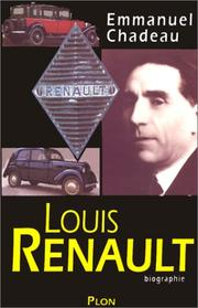 Cover of: Louis Renault