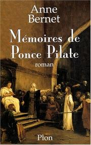 Cover of: Mémoires de Ponce Pilate