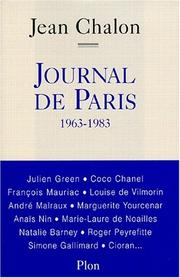 Cover of: Journal de Paris, 1963-1983