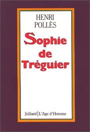 Cover of: Sophie de Tréguier