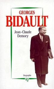 Cover of: Georges Bidault