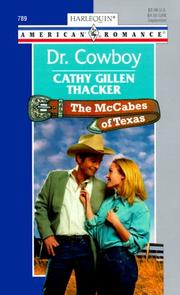 Cover of: Dr Cowboy  (The Mccabes Of Texas)