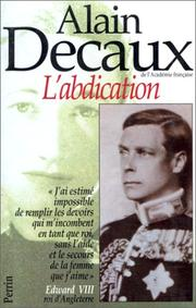 Cover of: L' abdication