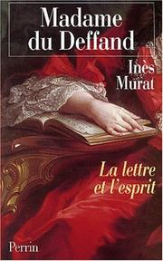 Cover of: Madame du Deffand, 1696-1780