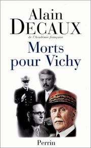Cover of: Morts pour Vichy