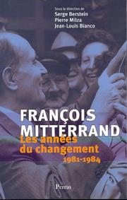 Cover of: Les années Mitterrand