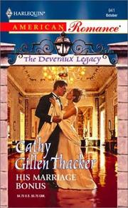 Cover of: His Marriage Bonus | Cathy Gillen Thacker