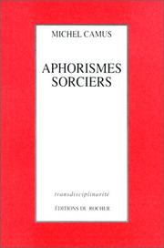 Cover of: Aphorismes sorciers
