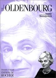 Cover of: Zoé Oldenbourg